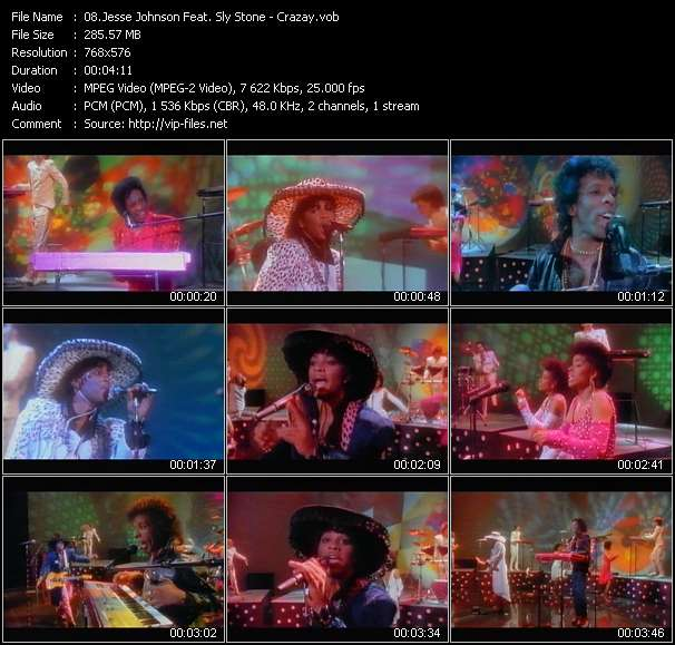 Jesse Johnson Feat. Sly Stone Video Clip(VOB) vob
