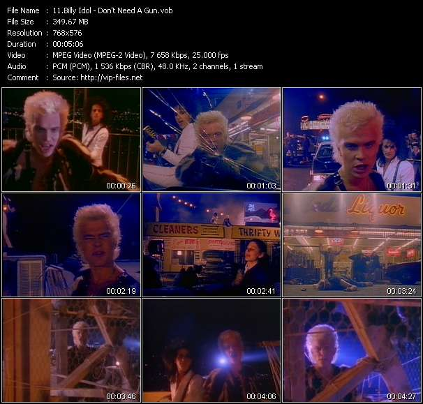 Billy Idol Video Clip(VOB) vob