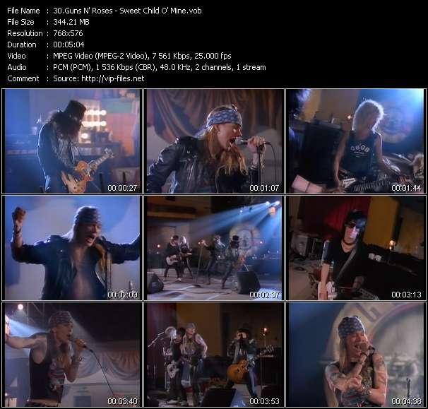 Guns N' Roses Video Clip(VOB) vob