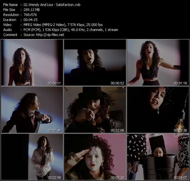 Wendy And Lisa Video Clip(VOB) vob