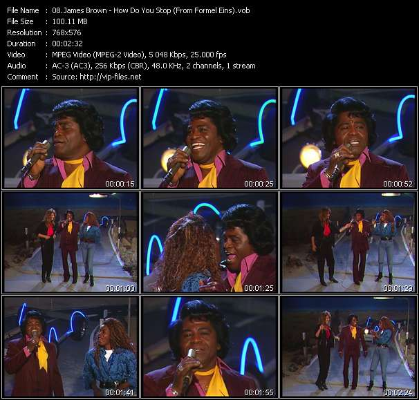 James Brown Video Clip(VOB) vob