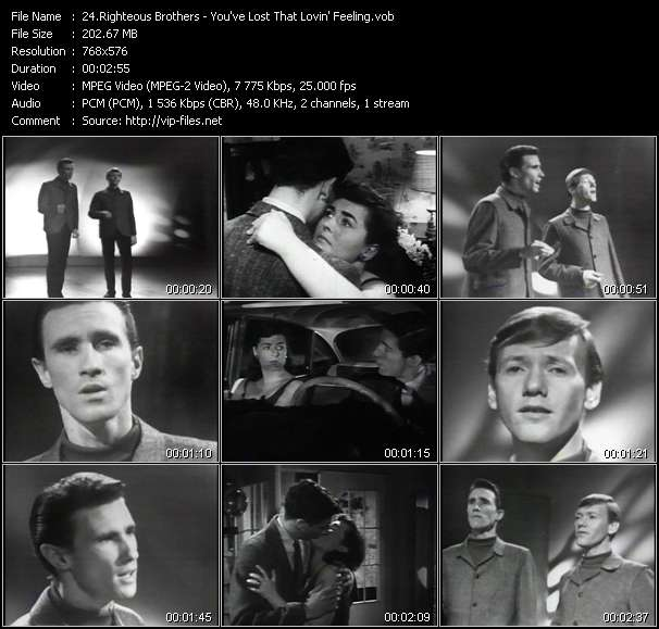 Righteous Brothers Video Clip(VOB) vob