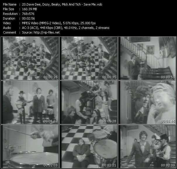 Dave Dee, Dozy, Beaky, Mick And Tich Video Clip(VOB) vob