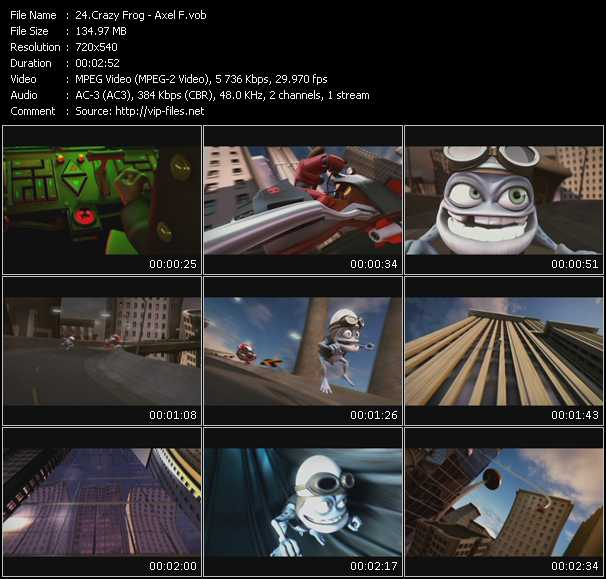 Crazy Frog Video Clip(VOB) vob