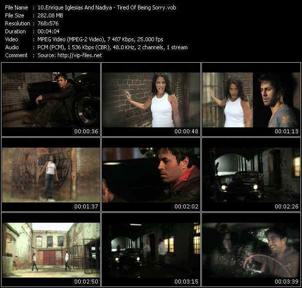 Enrique Iglesias And Nadiya Video Clip(VOB) vob