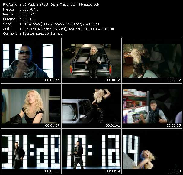 Madonna Feat. Timbaland And Justin Timberlake Video Clip(VOB) vob
