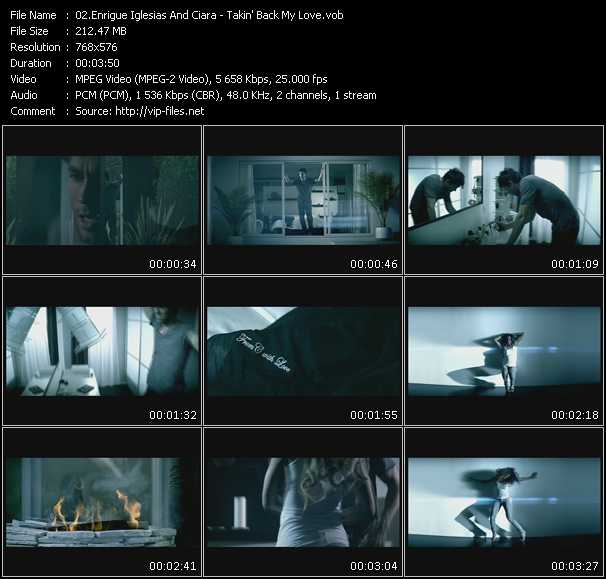 Enrique Iglesias And Ciara Video Clip(VOB) vob