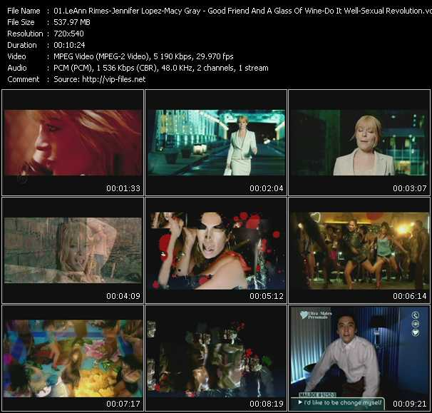 LeAnn Rimes - Jennifer Lopez - Macy Gray Video Clip(VOB) vob