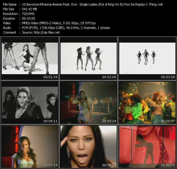 Beyonce - Rihanna - Amerie Feat. Eve Video Clip(VOB) vob