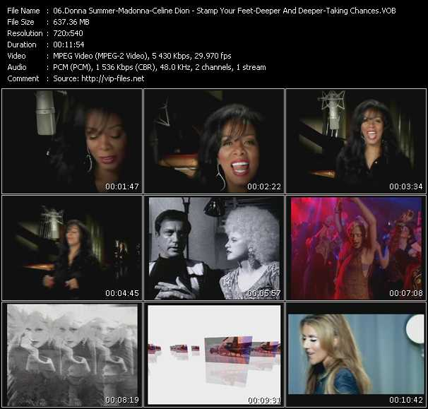 Donna Summer - Madonna - Celine Dion Video Clip(VOB) vob