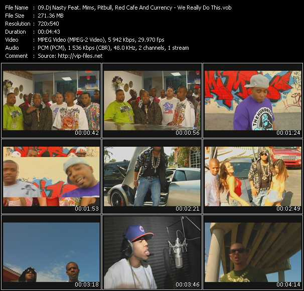 Dj Nasty Feat. Mims, Pitbull, Red Cafe And Currency Video Clip(VOB) vob