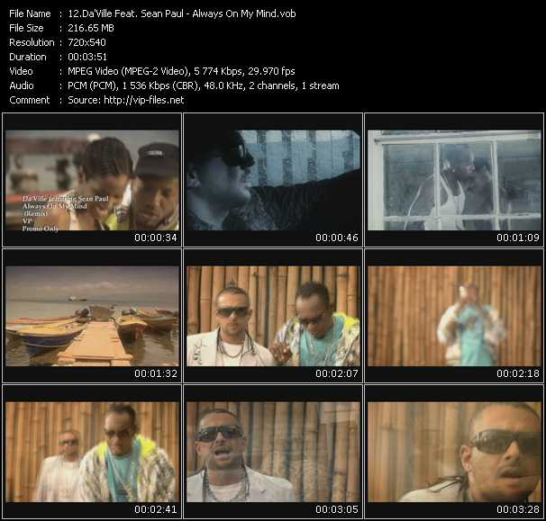 Da'Ville Feat. Sean Paul Video Clip(VOB) vob