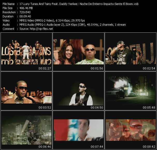 Luny Tunes And Tainy Feat. Daddy Yankee, Tonny Tun Tun, Hector El Father, Zion, Wisin And Yandel - Daddy Yankee - Tito El Bambino Feat. Randy Video Clip(VOB) vob