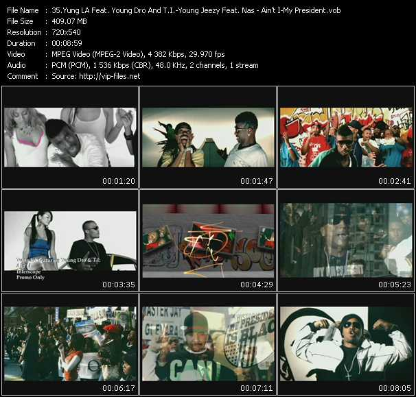 Yung LA Feat. Young Dro And T.I. - Young Jeezy Feat. Nas Video Clip(VOB) vob
