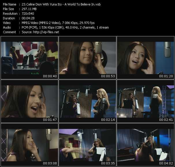 Celine Dion With Yuna Ito Video Clip(VOB) vob