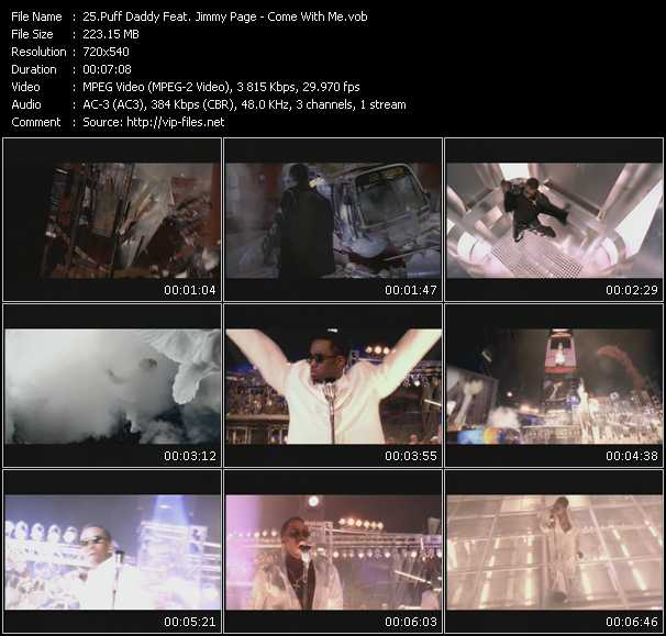 Puff Daddy (P. Diddy) Feat. Jimmy Page Video Clip(VOB) vob