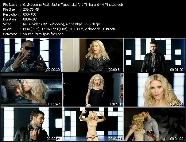 Madonna Feat. Justin Timberlake And Timbaland Video Clip(VOB) vob
