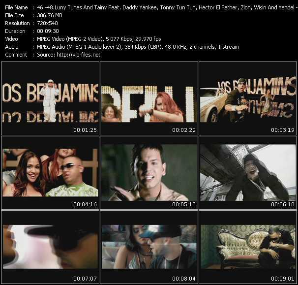 Luny Tunes And Tainy Feat. Daddy Yankee, Tonny Tun Tun, Hector El Father, Zion, Wisin And Yandel - Tito El Bambino - Wisin And Yandel Video Clip(VOB) vob