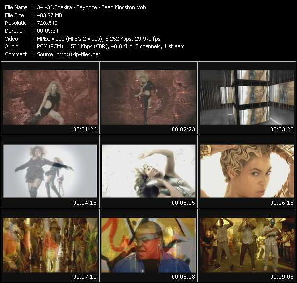 Shakira - Beyonce - Sean Kingston Video Clip(VOB) vob
