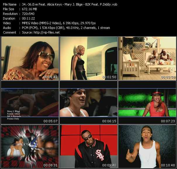 Eve Feat. Alicia Keys - Mary J. Blige - B2K Feat. P. Diddy (Puff Daddy) Video Clip(VOB) vob