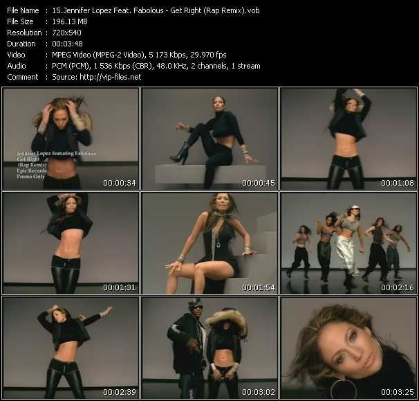 Jennifer Lopez Feat. Fabolous Video Clip(VOB) vob