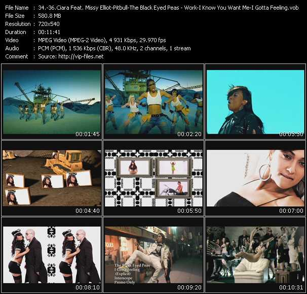 Ciara Feat. Missy Elliott - Pitbull - Black Eyed Peas Video Clip(VOB) vob