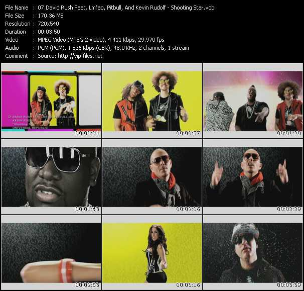 David Rush Feat. Lmfao, Kevin Rudolf And Pitbull Video Clip(VOB) vob