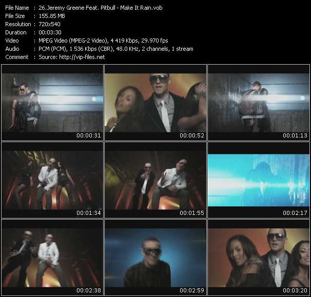 Jeremy Greene Feat. Pitbull Video Clip(VOB) vob