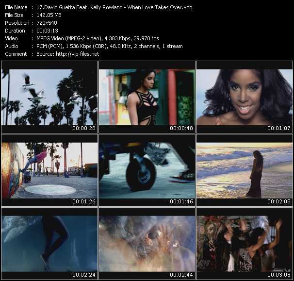 David Guetta Feat. Kelly Rowland Video Clip(VOB) vob