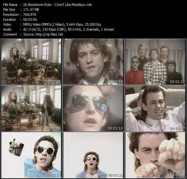 Boomtown Rats Video Clip(VOB) vob