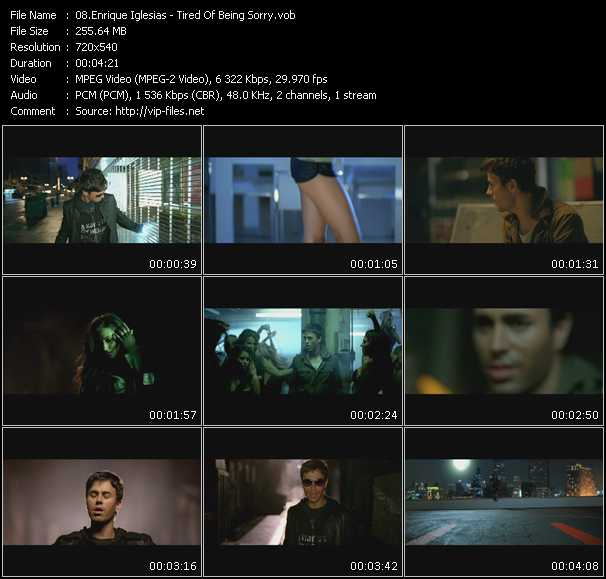 Enrique Iglesias Video Clip(VOB) vob
