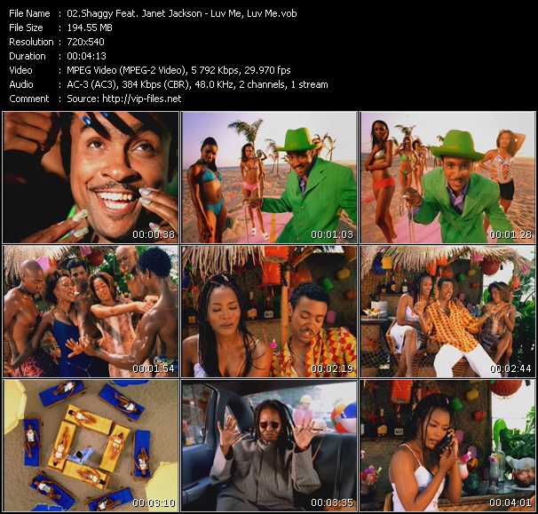 Shaggy Feat. Janet Jackson Video Clip(VOB) vob