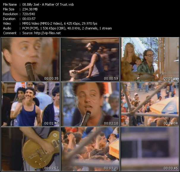 Billy Joel Video Clip(VOB) vob