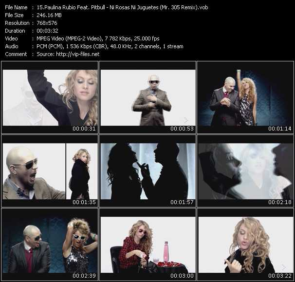 Paulina Rubio Feat. Pitbull Video Clip(VOB) vob