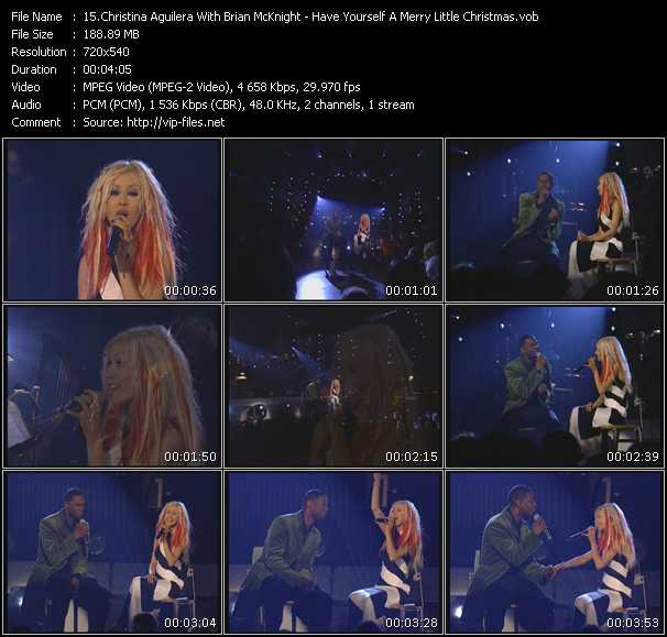 Christina Aguilera With Brian McKnight Video Clip(VOB) vob