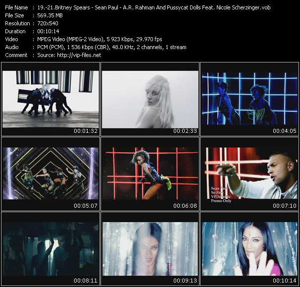 Britney Spears - Sean Paul - A.R. Rahman And Pussycat Dolls Feat. Nicole Scherzinger Video Clip(VOB) vob