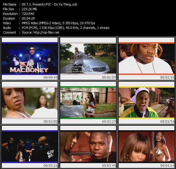 T.I. Presents PSC Video Clip(VOB) vob