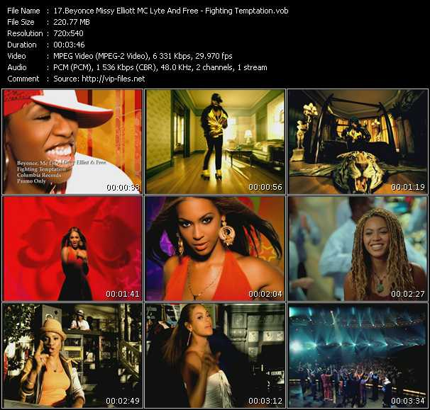 Beyonce, Missy Elliott, MC Lyte And Free Video Clip(VOB) vob