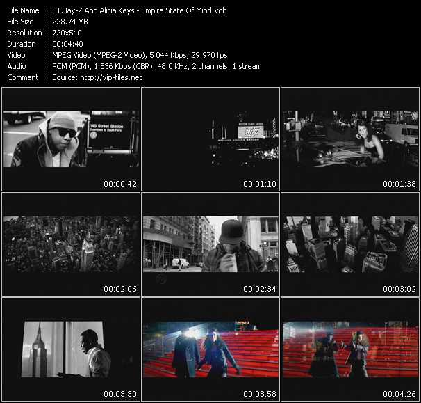 Jay-Z And Alicia Keys Video Clip(VOB) vob