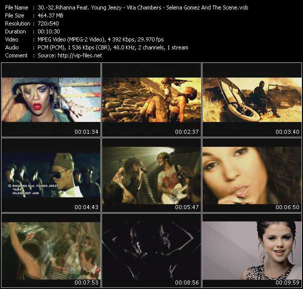 Rihanna Feat. Young Jeezy - Vita Chambers - Selena Gomez And The Scene Video Clip(VOB) vob