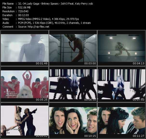 Lady Gaga - Britney Spears - 3oh!3 Feat. Katy Perry Video Clip(VOB) vob