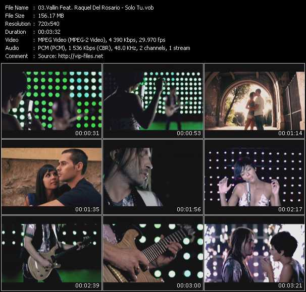 Vallin Feat. Raquel Del Rosario Video Clip(VOB) vob