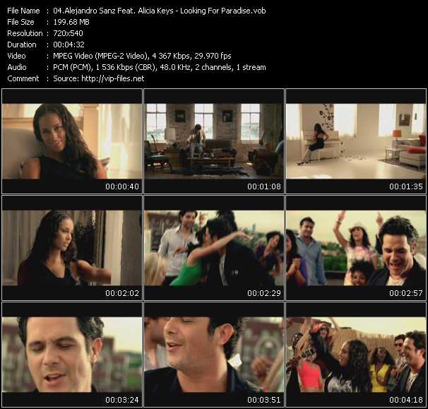 Alejandro Sanz Feat. Alicia Keys Video Clip(VOB) vob
