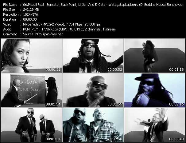 Pitbull Feat. Sensato, Black Point, Lil' Jon And El Cata Video Clip(VOB) vob