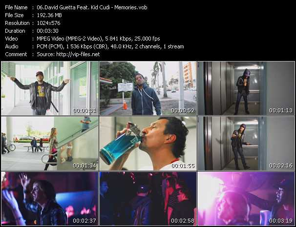 David Guetta Feat. Kid Cudi Video Clip(VOB) vob