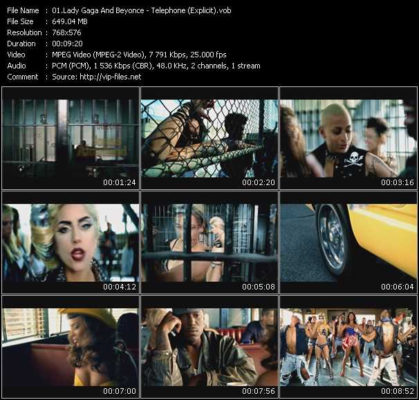Lady Gaga And Beyonce Video Clip(VOB) vob