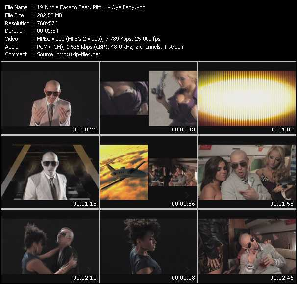 Nicola Fasano Feat. Pitbull Video Clip(VOB) vob