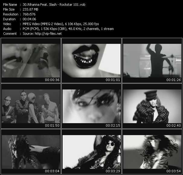 Rihanna Feat. Slash Video Clip(VOB) vob
