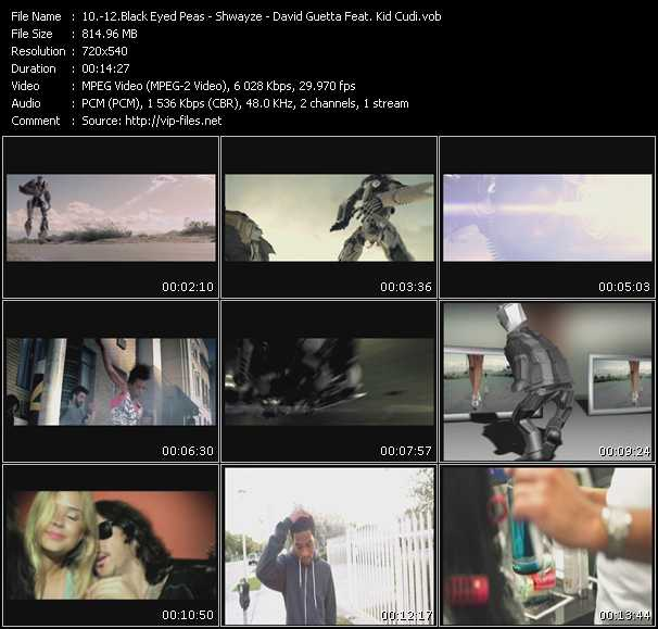 Black Eyed Peas - Shwayze - David Guetta Feat. Kid Cudi Video Clip(VOB) vob