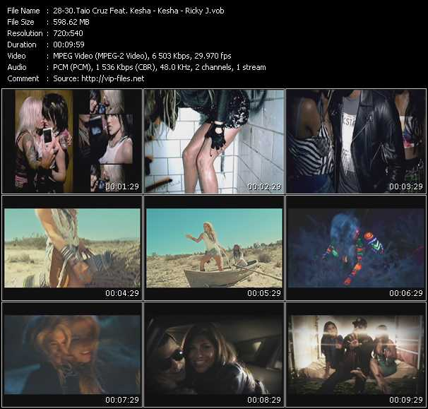 Taio Cruz Feat. Kesha - Kesha - Ricky J Video Clip(VOB) vob